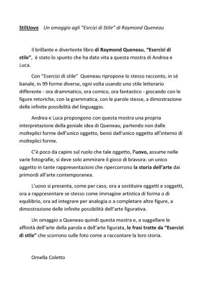 Stiluovo Esercizi di stile di Raymond Queneau
